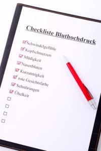 Kardiologie Berlin empfiehlt Checkliste Blutdruck